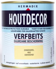 Hermadix Houtdecor Verfbeits Dekkend 602 Zandgeel 750 ml