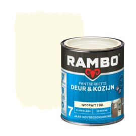 Rambo Pantserbeits Deur en Kozijn Dekkend Zijdeglans Ivoorwit 1101 750 ml