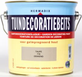 Hermadix Tuindecoratiebeits 716 Taupe Dekkend 2,5 Liter
