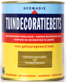 Hermadix Tuindecoratiebeits 767 Groen Naturel Transparant 750 ml