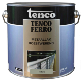 Tenco Ferro Metaallak Roestwerend Zijdeglans Grijs 2,5 Liter