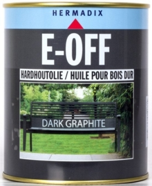 E-OFF Hardhoutolie Dark Graphite 750 ml