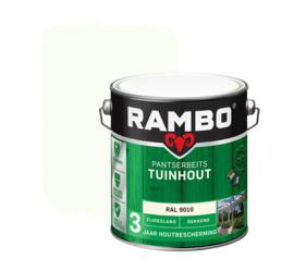Rambo Pansterbeits Tuinhout Dekkend RAL 9010 2,5 liter