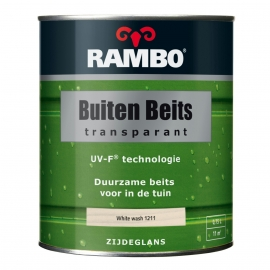 Rambo Buitenbeits Transparant White Wash 1211 2,5 Liter
