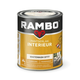 Rambo Pantserlak Interieur Whitewash 0777 ZIJDEGLANS 750 ml