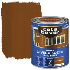 Cetabever Snel Beits Gevel & Kozijn Transparant Donker Eiken 750ml