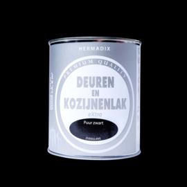 Hermadix  Deuren en Kozijnenlak Puur Zwart 750 ml