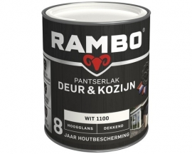 Rambo Pantserlak Deur en Kozijn Dekkend Hoogglans Wit 1100 750 ml