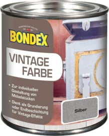 Bondex Vintage Farbe Zilver Krijtverf 375 ml