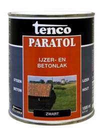 Tenco Paratol IJzer- en Betonlak Sneldrogend Zwart 1 Liter