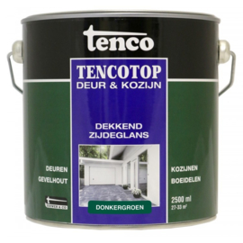 Tencotop Deur & Kozijn Dekkend Zijdeglans Donkergroen 2,5 Liter