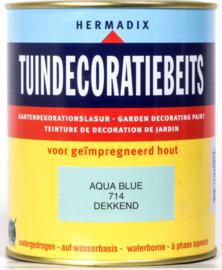 Hermadix Tuindecoratiebeits 714  Aqua Blue Dekkend 750 ml