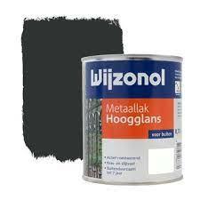 Wijzonol Metaallak Hoogglans 9450 Zwart 750 ml