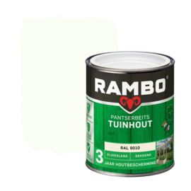 Rambo Pantserbeits Tuinhout Dekkend RAL 9010 750 ml
