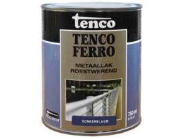 Tenco Ferro Roestwerende IJzerverf  Zijdeglans Donkerblauw 750 ml