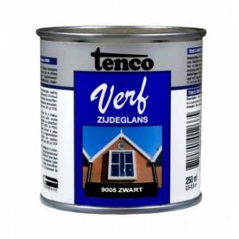 Tenco Verf Zijdeglans Zwart 9005 250 ml