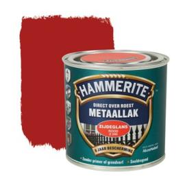 Hammerite Metaallak Zijdeglans  Rood Z240 250 ml