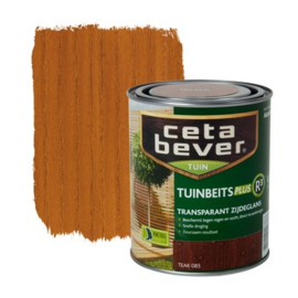 CetaBever Tuinbeits Plus R³  Transparant Zijdeglans Teak 085 750 ml