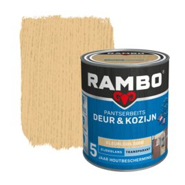 Rambo Pantserbeits Deur en Kozijn Transparant Zijdeglans Kleurloos 0000 750 ml