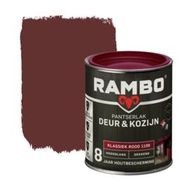 Rambo Pantserlak Deur en Kozijn Dekkend Hoogglans Klassiek Rood 1106 750 ml