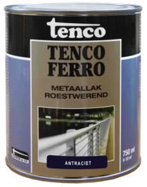 Tenco Ferro Metaallak Roestwerend Zijdeglans Antraciet 750 ml