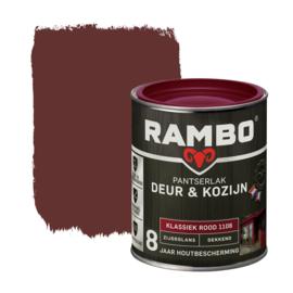 Rambo Pantserlak Deur en Kozijn Dekkend Zijdeglans Klassiek Rood 1106 750 ml