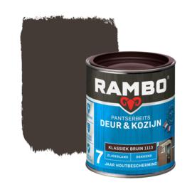 Rambo Pantserbeits Deur en Kozijn Dekkend Zijdeglans Kastanje Bruin 1113 750 ml
