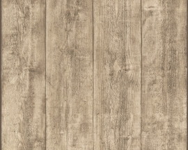 As Creation Wood 'n Stone  Hout Planken Behang  7088-16