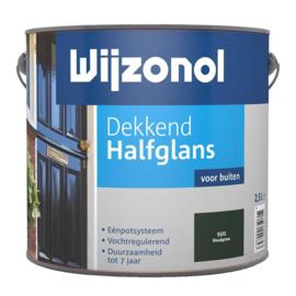 Wijzonol Dekkend Halfglans 9325 Woudgroen  2,5 Liter