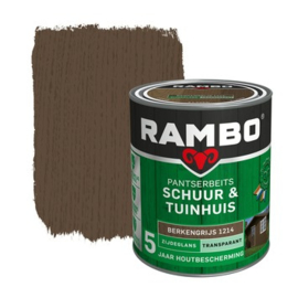 Rambo Pantserbeits Schuur & Tuinhuis Transparant Zijdeglans Berkengrijs 1214 750 ml