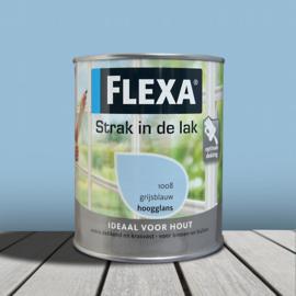 Flexa Strak In De Lak Hoogglans 1008 Grijsblauw 750ml