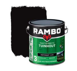 Rambo Pansterbeits Tuinhout Dekkend Diepzwart 1123 2,5 liter