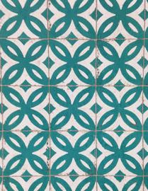 Rasch Home Style Groene Tegel Behang 524727