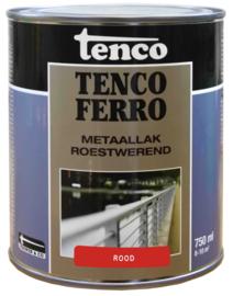 Tenco Ferro Metaallak Roestwerend  Zijdeglans Rood 750 ml