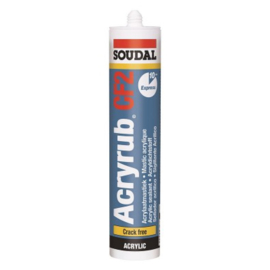Soudal Acryrub CF2  Wit Overschilbaar na 10 min 310 mm