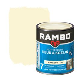 Rambo Pantserbeits Deur en Kozijn Dekkend Zijdeglans Boerenwit 1109 750 ml