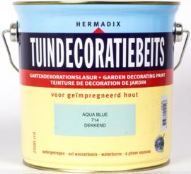 Hermadix Tuindecoratiebeits 714  Aqua Blue Dekkend 2,5 Liter