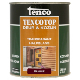 Tencotop Deur & Kozijn Transparant Halfglans Mahonie 750 ml