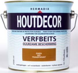 Hermadix Houtdecor Verfbeits Transparant 653 Eiken 2,5 Liter