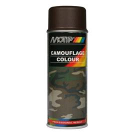 Motip Camouflagelak Mat RAL 8027 Lederbruin 400 ml