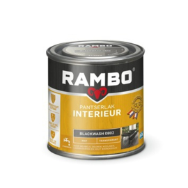 Rambo Pantserlak Interieur Blackwash 0802 MAT 250 ml