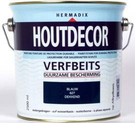 Hermadix Houtdecor Verfbeits Dekkend 627 Blauw 2,5 Liter