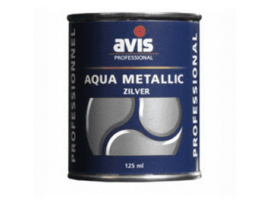 Avis Aqua Metallic Zilver 125 ml
