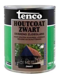 Tenco  Houtcoat Zwart Zijdeglans Waterbasis 1 Liter
