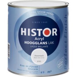 Histor Acryl Hoogglans Lak Hoornwit 6763 750 ml