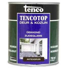 Tencotop Deur & Kozijn Dekkend Zijdeglans Antiekbruin 750 ml