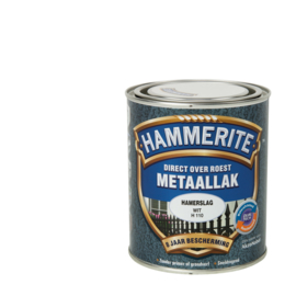 Hammerite Metaallak Hamerslag Wit  H110 250 ml
