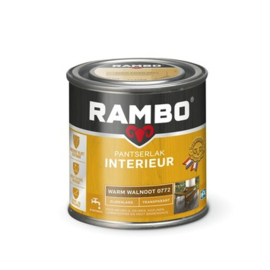 Rambo Pantserlak Interieur Warm Walnoot 0772 ZIJDEGLANS 250 ml