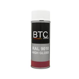 BTC Spuitbus RAL 9010 Zuiver Wit Hoogglans 400 ml