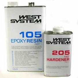 West System Epoxy Hars 105 A Pack 1,2 Kg 205 Harder